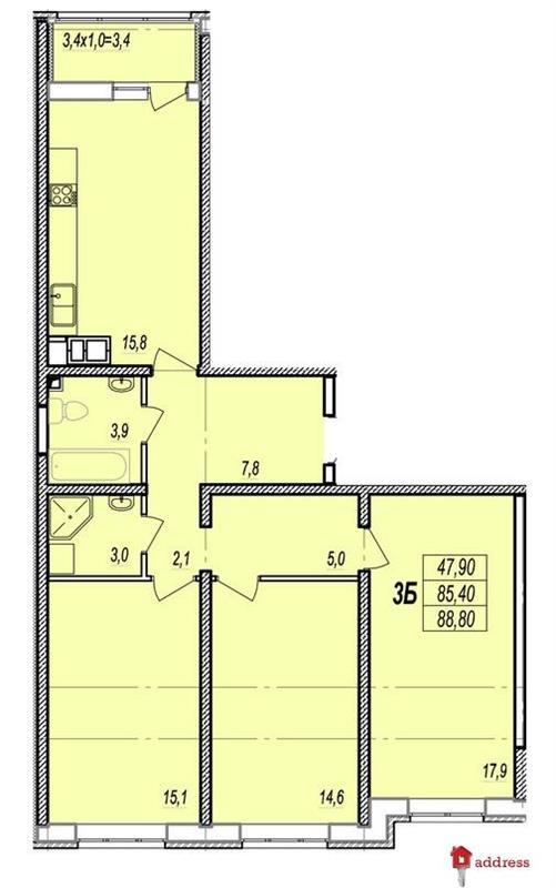 ЖК Прохоровский квартал: 3 комнатные
