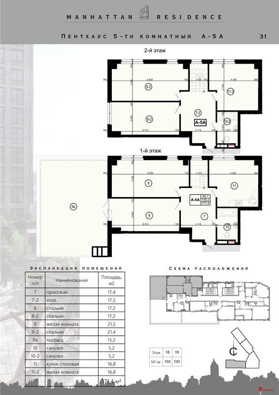 ЖК Манхэттен: 5-комнатная