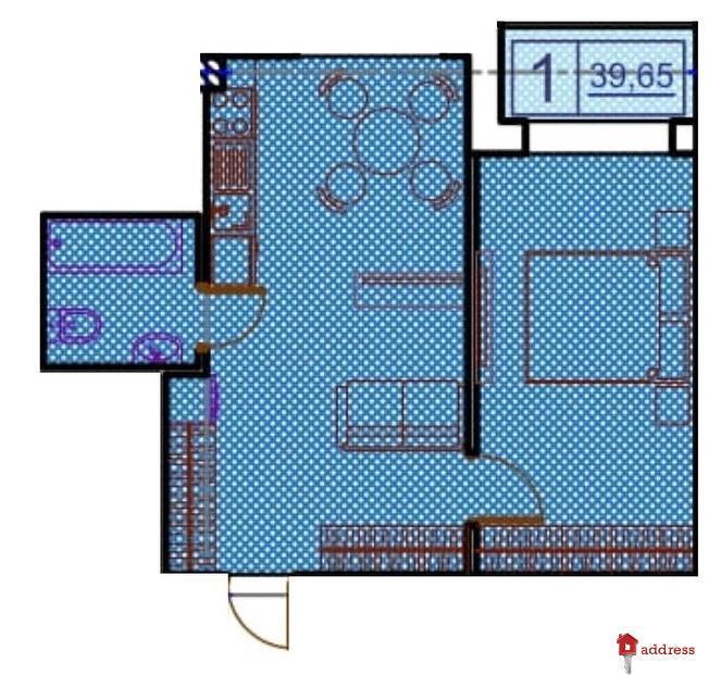 ЖК Пространство на Гераневой: 1 комнатные