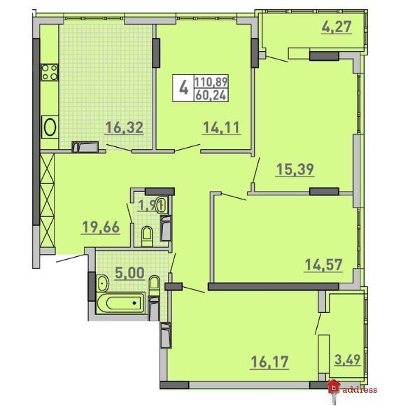 ЖК Паркове місто  очередь 7: 4-комнатные