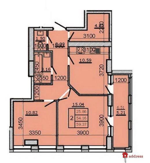 ЖК Метрополь: 2-комнатные