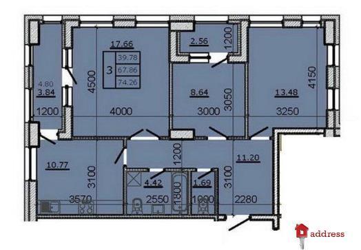 ЖК Метрополь: 3-комнатные