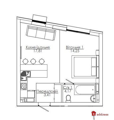 Art Kvartal City Space: 1 комнатные