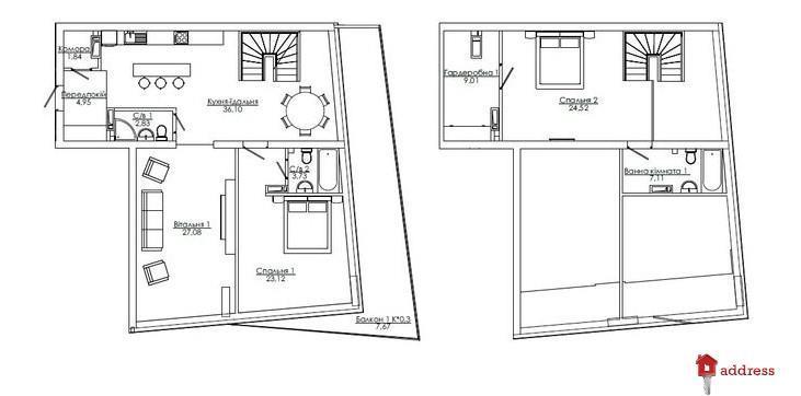 Art Kvartal City Space: 4 комнатные