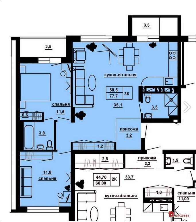 ЖК Manhattan: 3-комнатные