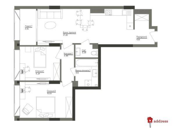 ЖК Washington Concept House: 2-комнатные