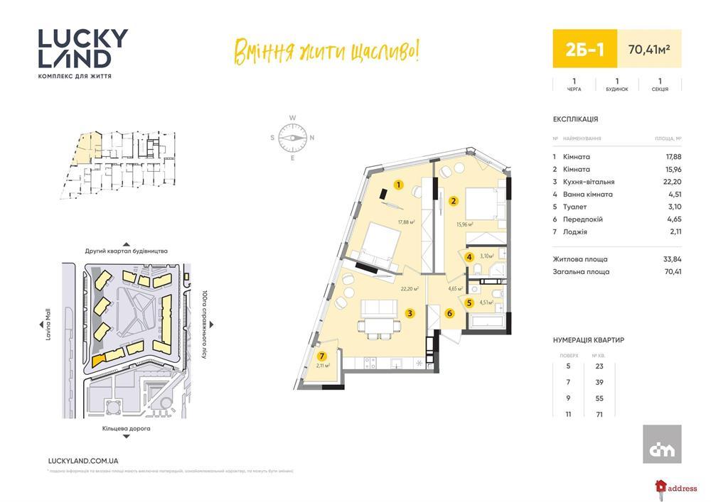 ЖК LUCKY LAND: 2-комнатные