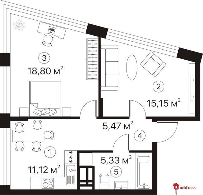 ЖК Terracotta: 2-комнатные