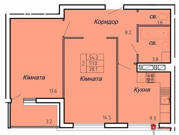 ЖК Atlanta Tower: 2-комнатные