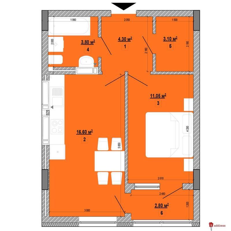 ЖК Forward: 1-комнатные