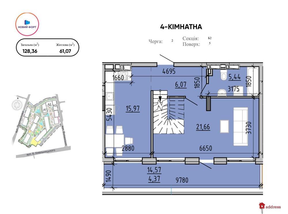 ЖК Містечко Підзамче: 4-кімнатні, 2 черга, Новий форт