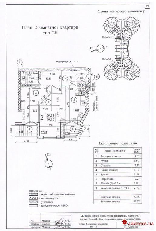 ЖК Сырецкий Бояр (Дом на Рижской): 2 комнатные