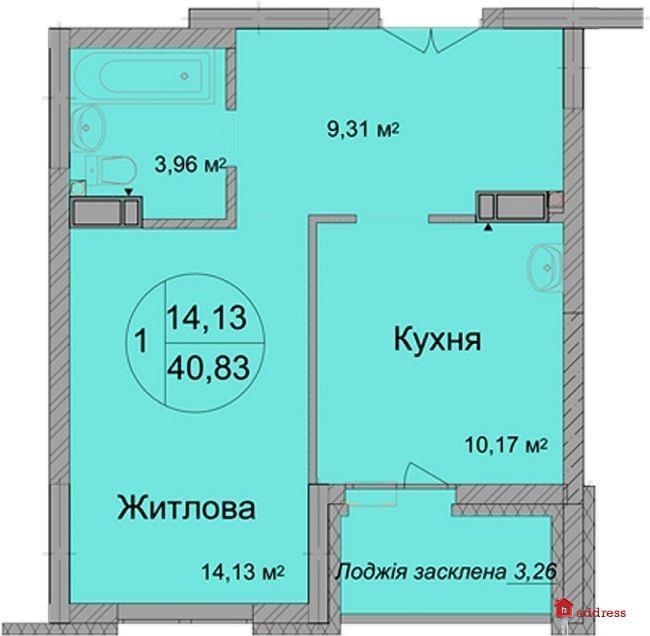 ЖК Святобор: Однокомнатная квартира
