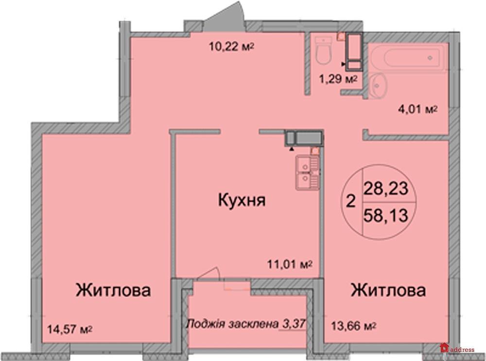 ЖК Святобор: Двухкомнатная квартира
