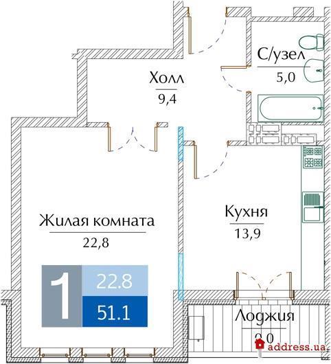 Клубный дом NOBEL homes: Однокомнатные