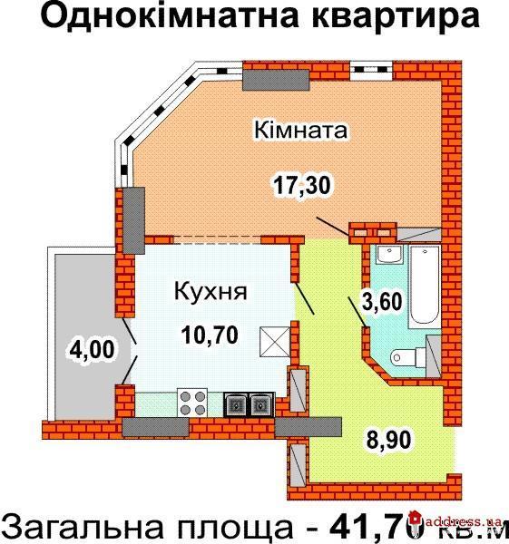ЖК Феодосеевская 2-е, 2-ж, 2-з, 2-и: Однокомнатные