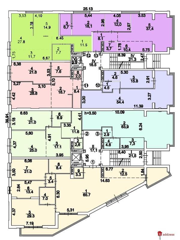 Клубный дом Liberty Estate: Планировки этажей