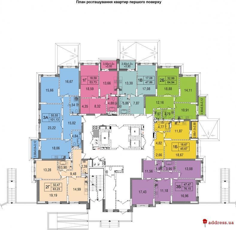 ЖК Демеевка: Планы этажей