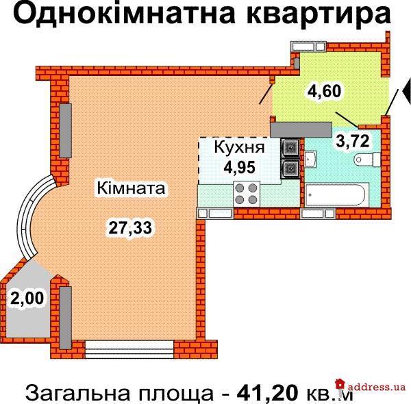 ЖД Пересечение ул. Армянской, Харьковского шоссе (Харьковское шоссе, 182): Однокомнатные