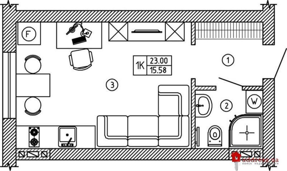 ЖК Comfort House (Комфорт Хаус): Однокомнатные