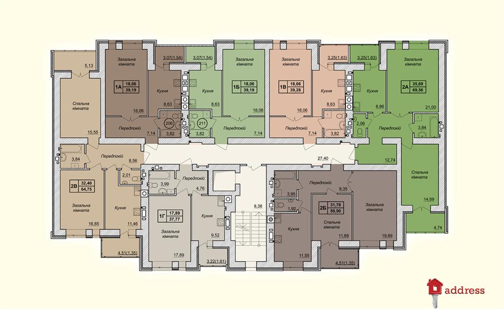 ЖК Forest Land: Планировки этажей