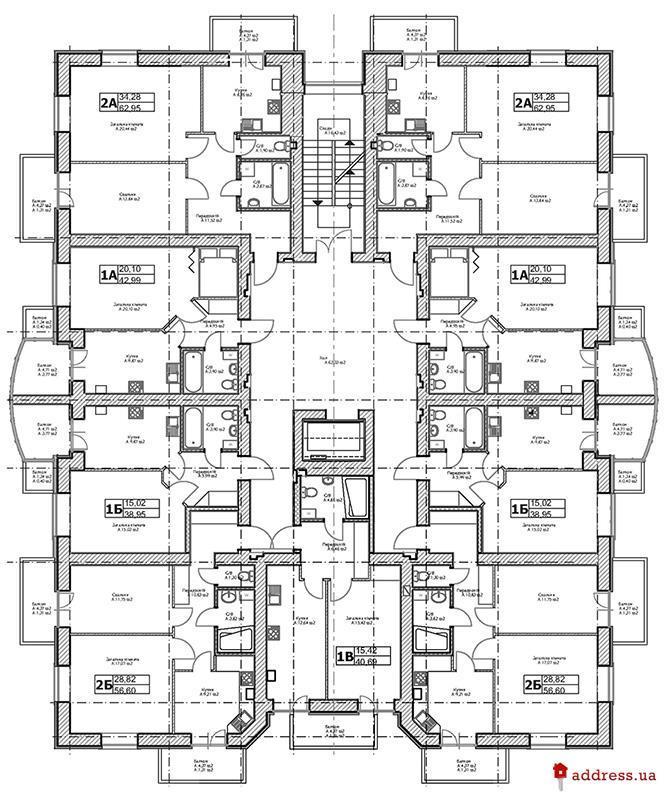 ЖК Паркова оселя: План этажа
