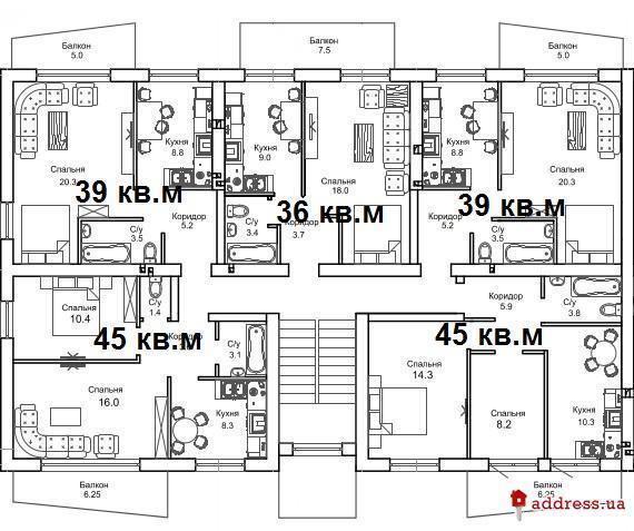 ЖК Чабаны квартал: Планы этажей