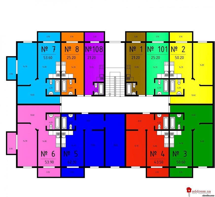 ЖК Комфорт: Планы этажей
