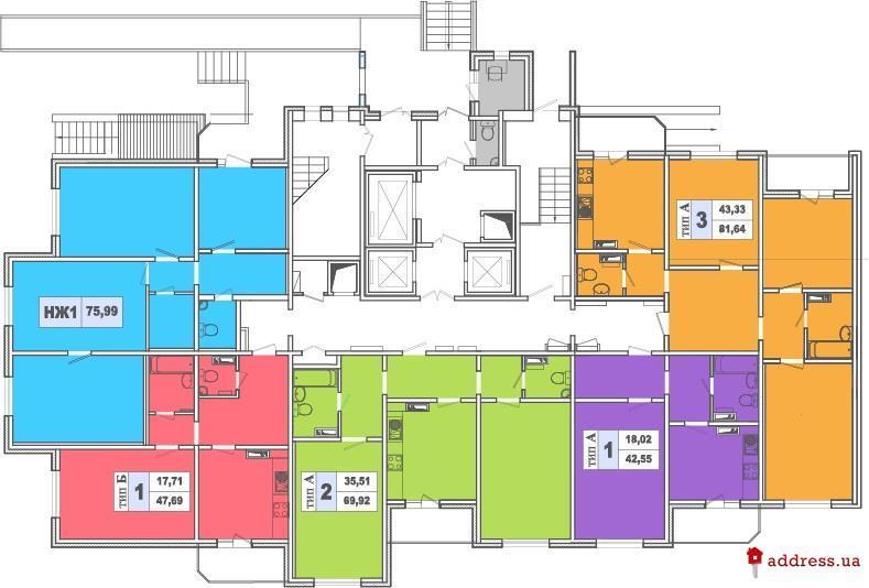 ЖК Lemonade: Типовые этажи