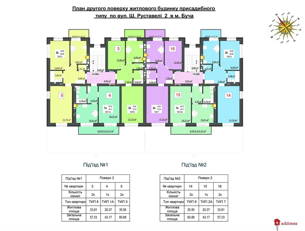 ЖК Лесная Буча: Планировки этажей