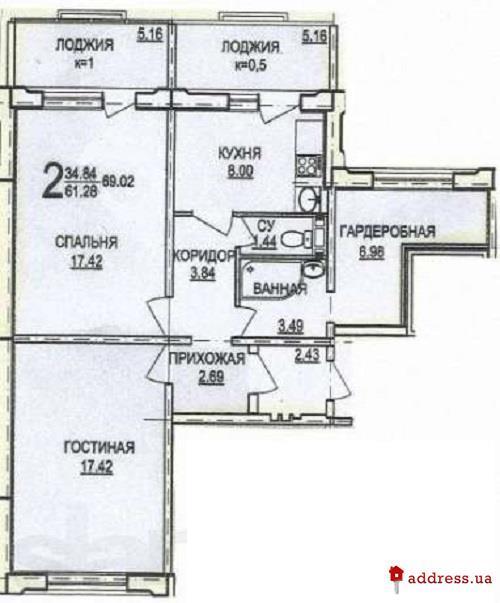 Жилой дом по ул. Дагаева, 5: Двухкомнатные
