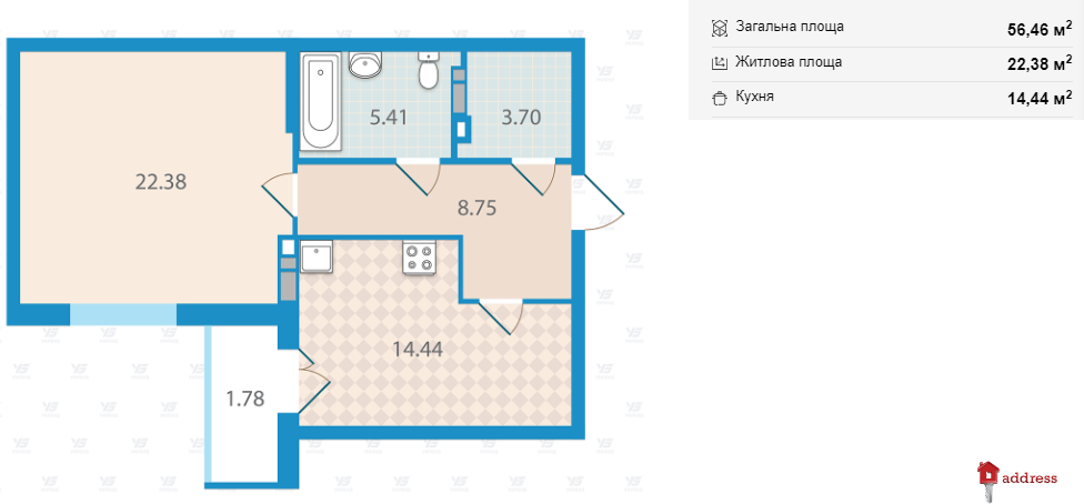 """ЖК """"Академ Парк"""": 1-комнатные"""