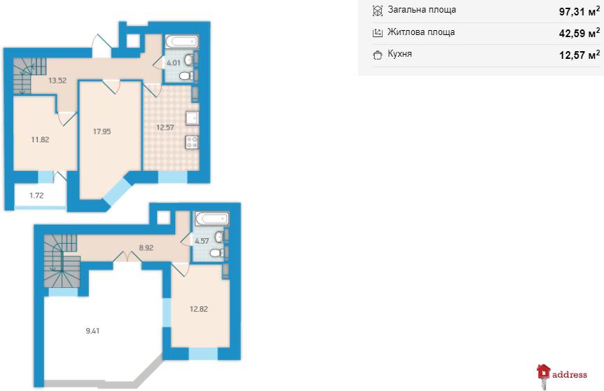 """ЖК """"Академ Парк"""": 3-комнатные"""