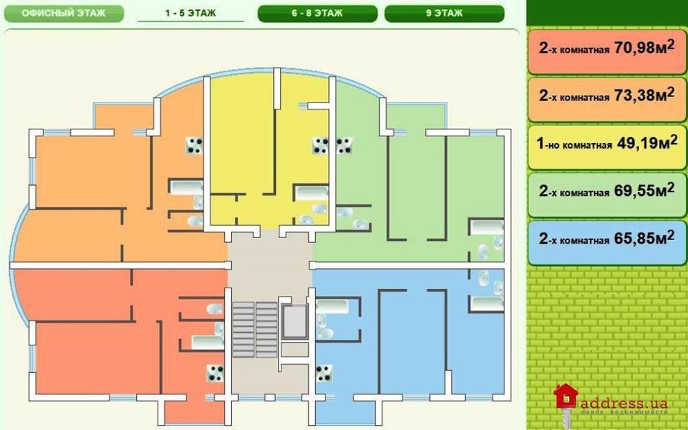 ЖК Пихтовый: Планировки этажей
