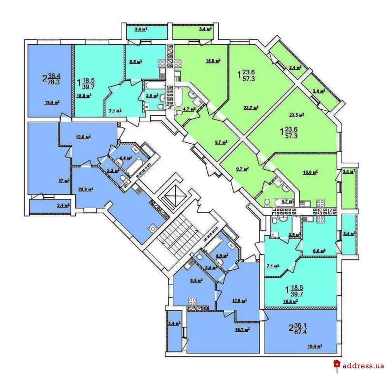 ЖК по ул. Велозаводская: Планы этажей
