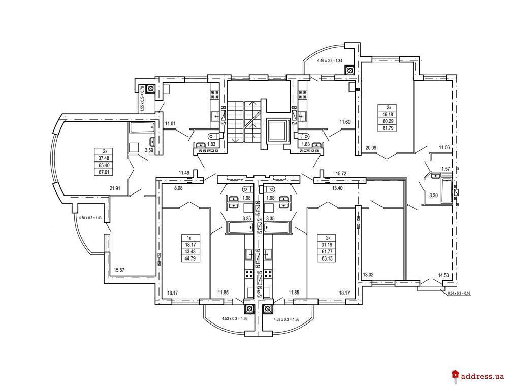 ул. Демнянская: Планировки этажей