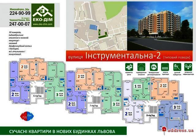 Дом по ул. Инструментальной, 49 (Инструментальная, 49): Типовый этаж