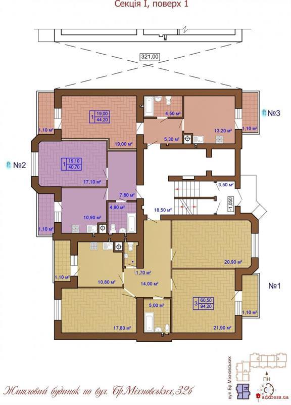 ул. Братьев Михновских, 32 Б: Планировки этажей