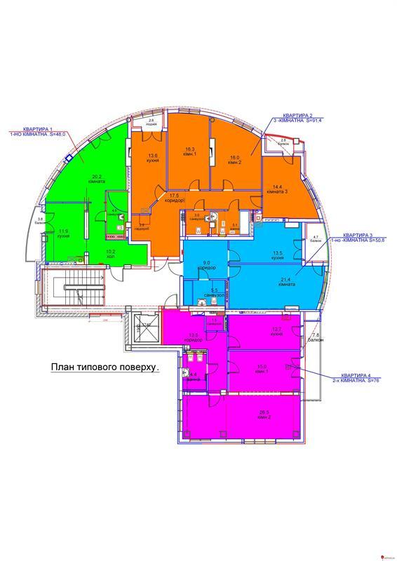 ул. Крымская, 107: План этажа