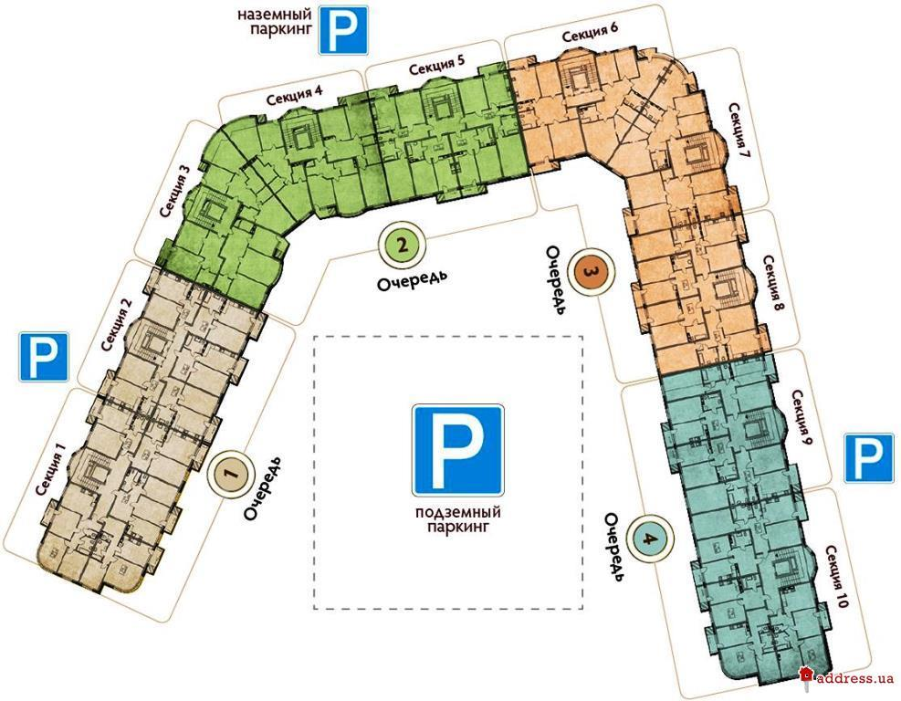 Pechersk Plaza (Печерск Плаза): План дома