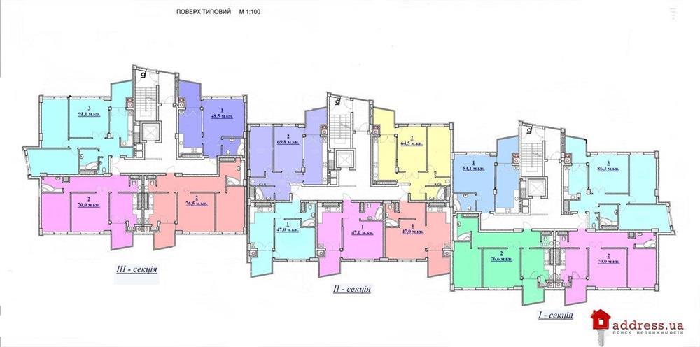 ул. Ф. Скорины, 44: Типовый этаж