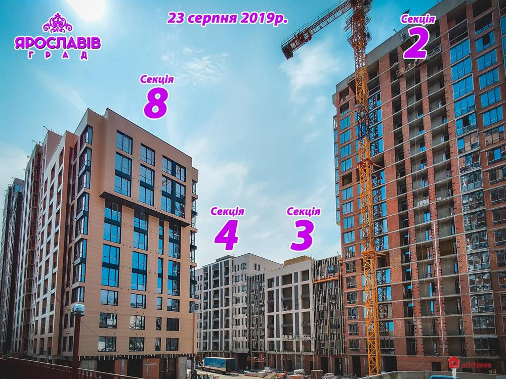 ЖК Ярославов Град: Август 2019