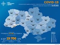 В Украине зафиксировано 476 новых случаев коронавируса