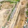 Строительство метро на Виноградарь показали с высоты птичьего полета (фото)