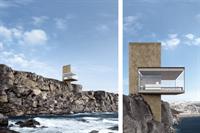 Украинские архитекторы разработали проект необычного домика на скале