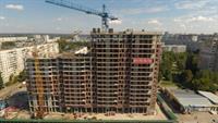 Ссекция 2 ЖК Континенталь залита плита перекрытия 14 этажа