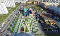 На Оболонской площади появился музыкальный фонтан