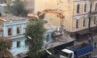 На Саксаганского сносят историческое здание